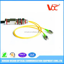 Singlemode 2 cores fc apc waterproof armored fiber optic cable pigtail TV equipment