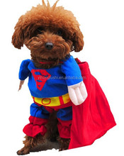 Pet Dog Puppy Cotton Superman Clothes Halloween Apparel Costumes Outfit Pets Party Clothes Suit for Boys Cats Boy Dogs Clothing