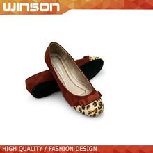 Leopardo de la alta calidad imprimen los zapatos planos ocasionales para mujeres