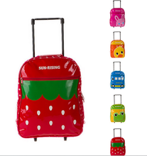 Trolley Kids School Bag With Wheels For Girls