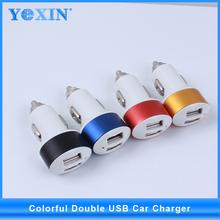 5v 1a móvil usb cargador de coche, 2 puerto usb cargador para el iphone 6/samsung tabletas/teléfono inteligente/gps/mp3