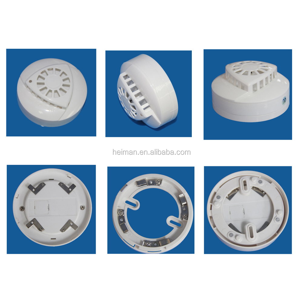 2 /4 wire network type fire alarm system use HM-203HC heat detector ...