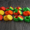Shenzhen factory colorful pretty storage boxes/food grade silicone wax container/silicone jars dab wax oil con