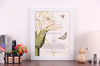 2015 new design flower painting with white border decorative picture