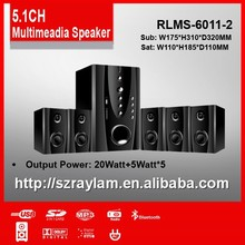 Home use RLMS-6011-2 C 5.1CH speaker system with amplifier