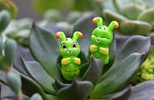 Zakka grocery caterpillar micro landscape doll animals furnishing articles Creative resin handicraft ornament