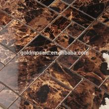t0693 colore marrone della parete a mosaico di ceramica con motivi floreali mosaico di ceramica