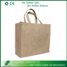 Promotional durable plain gunny bag jute