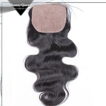 Sunny Queen Hair Brazilian Virgin 7a silk closure Natural color 10-20inch in stock Body Wave silk base Lace Closure