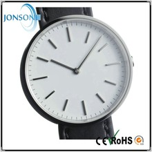 Fashion minimalist leather stainless steel japan movt fashion vogue watch stainless steel back quartz quality watches