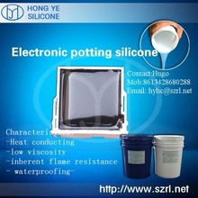 Silicon sealant for electronic parts fixation
