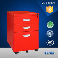 Movable steel drawer cabinet mobile filing cabinet with drawer cabinet