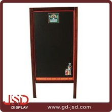 Double sides folding Wooden blackboard with stand