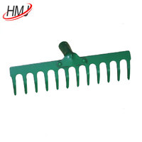 Wodden handle grass rake