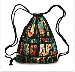 2016 New Fashion Foldable Nylon Polyester Drawstring Bag