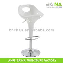 White breakfast swivel bar counter stools