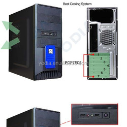 2015 latest hot sale SGCC transparent plastic computer case design