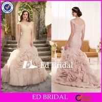 MG30 Alibaba Cap Sleeve Sexy Corset Bodice Ruffles Mermaid Wedding Gowns 2015
