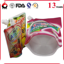 stand up spout pouch packing for jelly