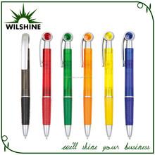 Blue and Red Plastic Pen Twist Mechanism