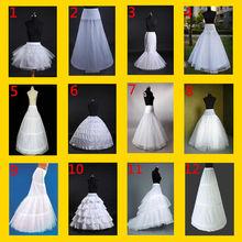 new hot white 6 hoops Crinoline Underskirt Petticoat For Wedding Dress Ball Gown