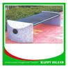 2015 attractive design park bench Chinese manufacturer Steel Street Furniture Outdoor Sports Bench Galvanized Steel Bench