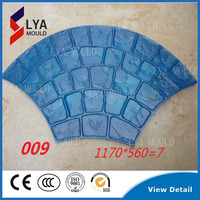 concrete stamp molds rubber/ PU paving moulds