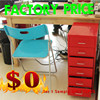 VINTAGE STEEL FILING CABINET 6 DRAWER RED CABINET COLLECTORS CHEST