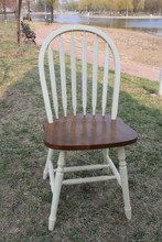Solid Wood Dining Chair Peacock Chair White Windsor Chair