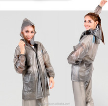 perfect for festival or camping or concert Clear pvc two pieces raincoat