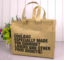 2015 eco-friendly cheap craft paper cooler lunch bag for promotion