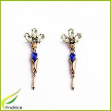 Imitation Jewellery Pictures Factory Design Rhinestone Women Fashion Earring