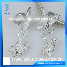 Fashion Design Butterfly Pendant , 925 Silver Charm Pendant