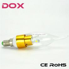 Factory Sales E14 E27 3W 5W led candle bulb e14