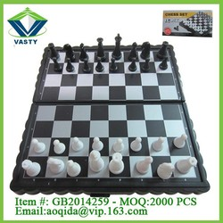 Magnetic international chess set play chess game