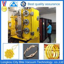 China manufacture gold jewelry vacuum metallizing plant/equipment/machine