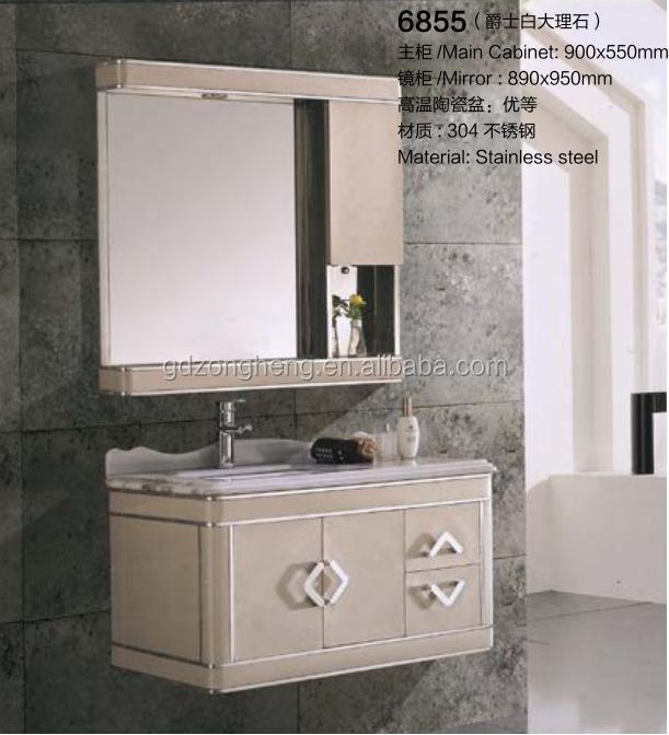 Autme de luxe en acier inoxydable salle de bains cabinet for Cabinet de salle de bain