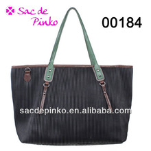 2015 hot sales Genuine crocodile skin vertical stripes leather handbags for ladies