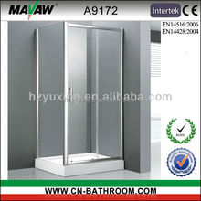 cheapest durable rectangle shaped tempered glass sliding shower enclosure/shower room/shower cabin MV-A9172 with CE certificate
