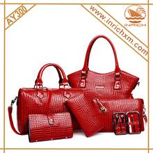 Crocodile Handbag Tote 6 Pieces A Lot Handbag+Shoulder Bag+Clutch+Purse+Card Holder+Manicure Case