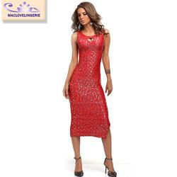 ML18343 Sexy Fashion Dress 2015 Stylish Party Club Elegant Knitted Red Women Maxi Dresses