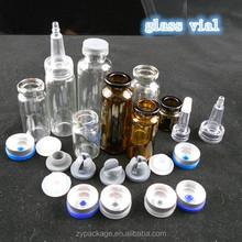 1ml 2ml 3ml 5ml 10ml 20ml glass vials, perfume tester bottle with rubber stopper or dispenser
