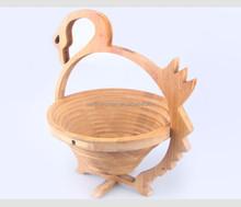 Apple Shaped Fruit Wooden Basket