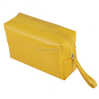Fashion yellow PVC lady bag with handle
