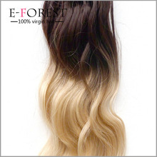 fashionable two color brazilian ombre micro loop ring 20inch hair extension