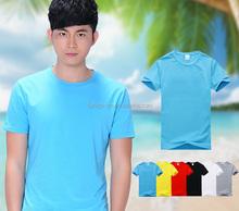 High quality plain no brand t-shirt manufacturer cheap round neck t-shirt
