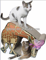 Cardboard Corrugated Pet House Cat Scratch Tree Kitten Toys