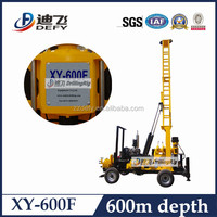600m deep drilling rig, XY-600F portable deep rock well drilling equipment