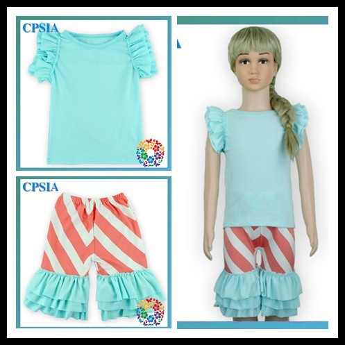 Cheap Wholesale Ruffle Clothing Toddler Boutique Outfits