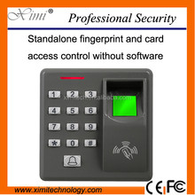 Mini fingerprint access control standalone access control system biometric door control